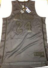 Authentic Kobe Bryant Adidas Swingman Mesh Jersey Los Angeles Lakers Charcoal 24