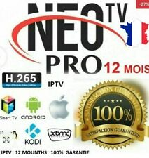 NEO PRO2/X  Originale H265 ABONNEMENT12M  M3U ou code -ANDROID-VOD-BOX en 5 mn