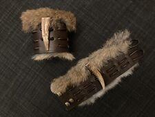 More details for leather wrist armour cuff bracelet larp costume fantasy viking