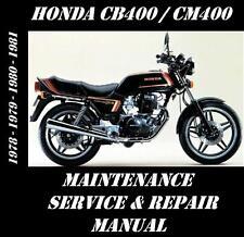 Honda CB400 CM400 CB CM 400 Service Repair Maintenance Overhaul Rebuild Manual
