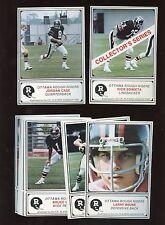 1982 JOGO CFL Football Ottawa Complete Set NRMT