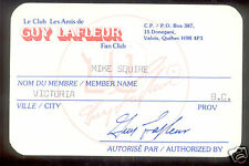1978 Guy Lafleur Fan Club Membership Card