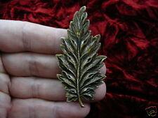 pendant brooch Wow I love plants (b-leaf-5) Victorian leaf fern plant brass pin