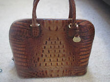RARE Brahmin Toasted Almond large leather Dome handbag- amazing! Retal 399.00
