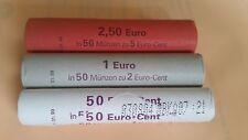 ALLEMAGNE - 3 Rouleaux Roll de 1;2;5 cents d'euro - 2002 - atelier G  Neuf - UNC