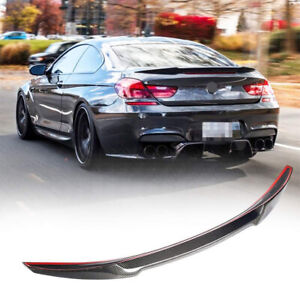 For BMW 6 Series F06 F13 M Sport M6 Coupe Carbon Fiber Rear Trunk Lip Spoiler