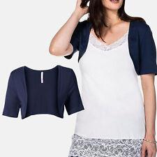 wow neu Gr.48/50 BOLERO Shirt Jäckchen Jacke Jersey marine dunkel blau