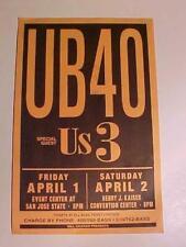 RARE BILL GRAHAM VINTAGE ORIGINAL ROCK & ROLL MUSIC HANDBILL UB40 CONCERT POSTER