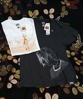 Naruto & Sasuke X UNIQLO Set of 2/ Bundle / Shonen Jump 50th Men's T Shirts T10