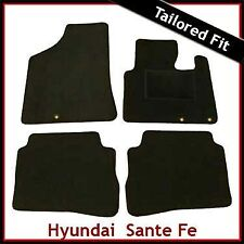 Hyundai Santa Fe Mk2 2010-2012 5 plazas a medida Alfombras coche tapetes negro