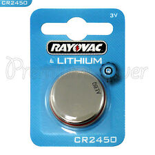 1 x Rayovac CR2450 battery Lithium 3V Coin cell Watch ERC2450 BR2450