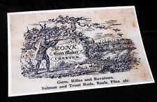 Carta Monk Gunmaker RIPRODUZIONE PISTOLA Custodia Accessori etichetta