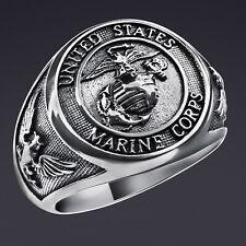 Marine Corps anillo United States Army USMC Eagle Adler en 925 Sterling plata
