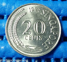 1977 Singapore 20 Cents Sword Fish Coin