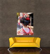 Stampa Poster gigante FOTO cultura Geisha giapponese asiatico PER CAPELLI DONNA RAGAZZA pamp248