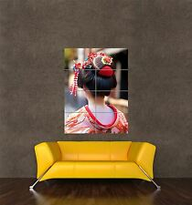 Impresión de cartel gigante Foto cultura Geisha Japonesa Cabello Mujer asiática Girl pamp248