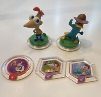 Disney Infinity Phineas & Ferb Characters: AGENT P. & PHINEAS + 3 Power Discs!
