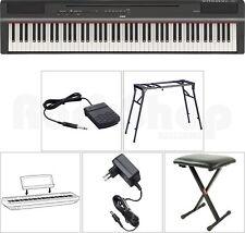 Yamaha P 125 B Digital E-Piano Klavier SET mit Stativ/Tisch + Sitz Bank/Hocker