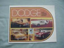 Vintage 1975 Dodge Dart Coronet Charger Monaco Sales Brochure