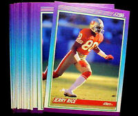 1990 Score JERRY RICE ~ 20 CARDS LOT ~XXX~ HALL OF FAME STAR 49ers WIDE RECEIVER