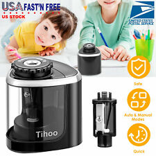 Automatic Electric Pencil Sharpener Battery Operated Easy To Use School Office