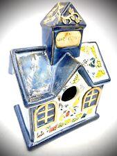 Rare Bird House Garden Decor Glazed Hand Painted Ceramic Unbranded Vintage