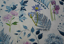 Designers Guild Fabric 'Mokuren' 2.8 METRES  Indigo 100% Cotton Kaori Coll