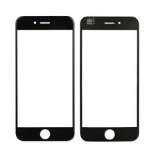 """For iPhone 6 4.7"""" Black Front Outer Display Touch Screen Lens Glass Replacement"""
