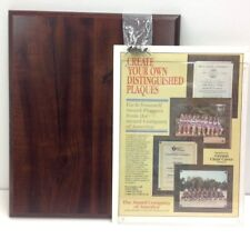 "Create your own Wood Plaque Photo/Award~Acrylic included~11"" Wx14"" H~NEW~in Box"