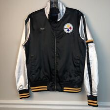 Vintage Reebok Woman's NFL Varsity Satin Pittsburgh Steelers Jacket medium