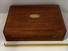 Naken Wood Silverware Flatware Storage Chest Box Case Anti-Tarnish Excellent!