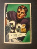 1952 Bowman Small Yale Lary Rookie #140 Detroit Lions