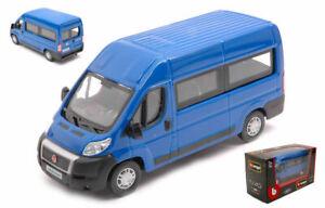 Modellino auto furgone scala 1:43 Burago FIAT DUCATO VAN bus diecast modellis...