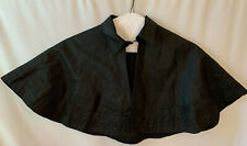 Antique Victorian Black Mourning Cape ,As Is, Perfect Except For Inside Collar