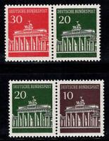 Germany Bund 1966-68 Mi. 506-508 MNH 100% Tete Beche, Brandenburg Gate