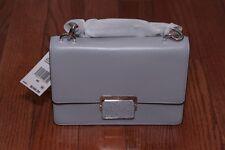 NWT Michael Kors $248 Cynthia Small Shoulder Flap Bag Purse Dove/Silver