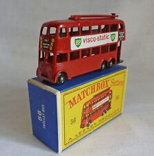 "Lesney Matchbox MB56a Trolley Bus with BPW & ""VISCO-STATIC"" Decals"