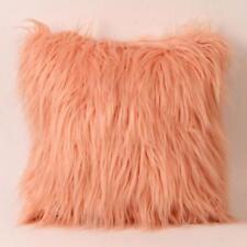 Soft Plush Furry Cushion Cover Throw Square Pillow Case Home Bed Room Sofa Decor