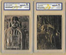 2 Star Wars 23 Kt Karat Gold Card Darth Vader  Graded GEM MINT 10