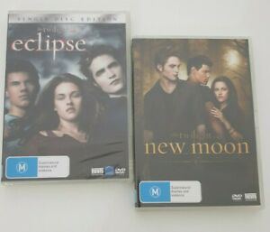 2 x DVD's Twilight Eclipse and New Moon, New Sealed. Bargain Price.