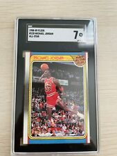 1988 Fleer All-Star Basketball #120 Michael Jordan Chicago Bulls HOF SGC 7 NM