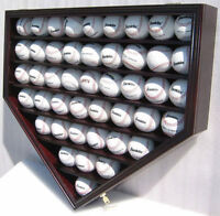 46 Baseballs Baseball Display Case Wall Holder Cabinet-UV Protection, B46(UV)-MA