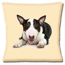 Bull Terrier Cushion Cover Brown Brindle White Dog 16 inch 40 cm