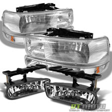 99-06 Silverado Suburban Tahoe Headlights +Bumper Signal+Fog Lights Left+Right