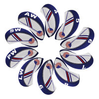 Neoprene 10pcs Golf Iron Headcovers 4#-Lw For Taylormade Titleist Srixon Cobra