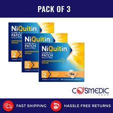 3x  NiQuitin Clear 14mg Nicotine Patches, Step 2, 42 Patches