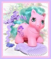 ❤️My Little Pony MLP G1 Vtg TEENY WEENY Tiny BABY Little Tabby Newborn COMB❤️