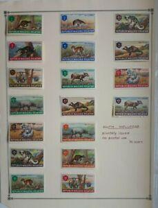 Cinderella stamps - Republik Maluku Selatan - 4 album sheets - 4 photos.