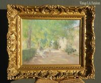 Vintage Giclee Picture of Women Reading Relaxing in Garden by I. Ferquenez