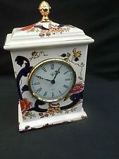 "Masons Blue ** MANDALAY ** Mantle Clock (8"" High)"